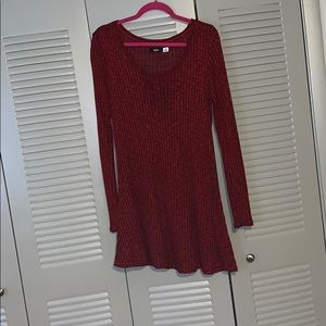 BDG Dresses - Red sweater dress